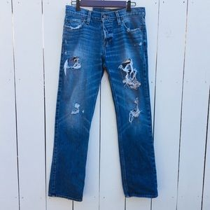 Hollister Jeans - Hollister The Slim Straight Destroyed Jeans
